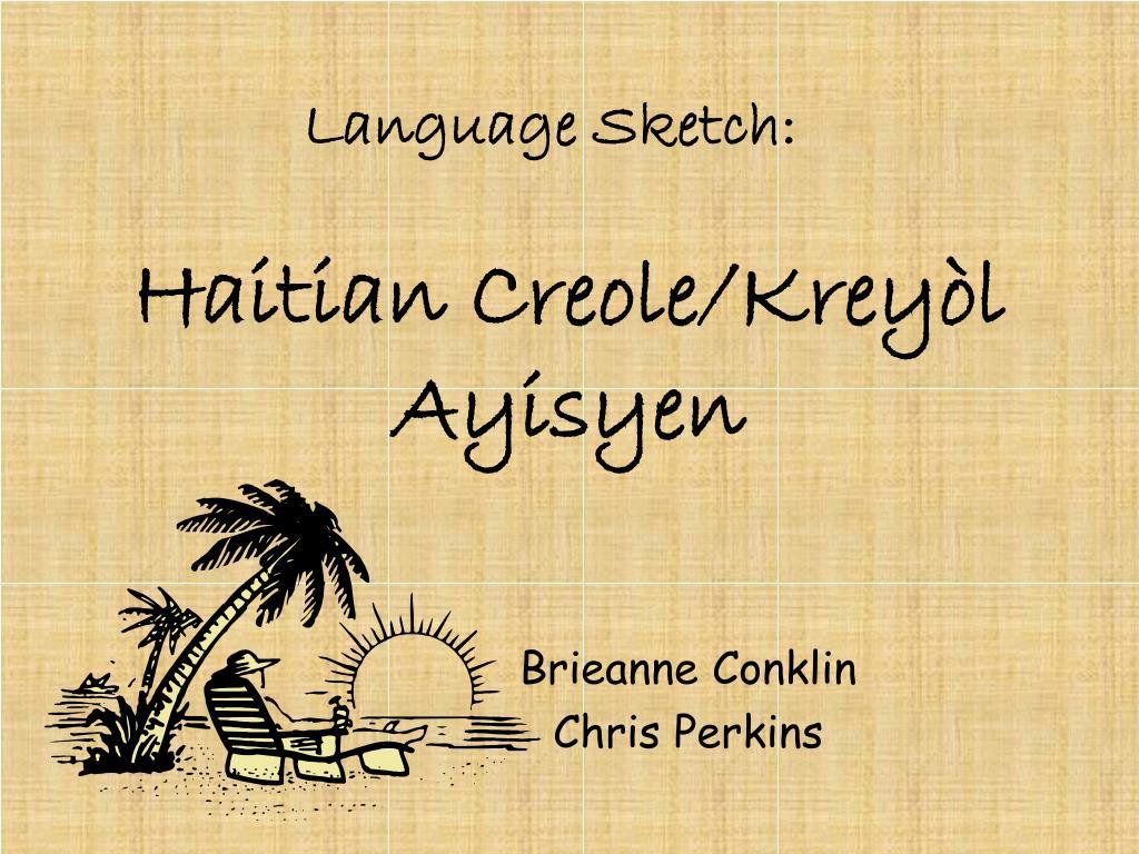 haitian creole krey l ayisyen l.