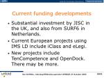 current funding developments