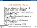 eml becomes ims ld