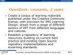 opendock leonardo 2 years