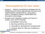 tencompetence ip four years