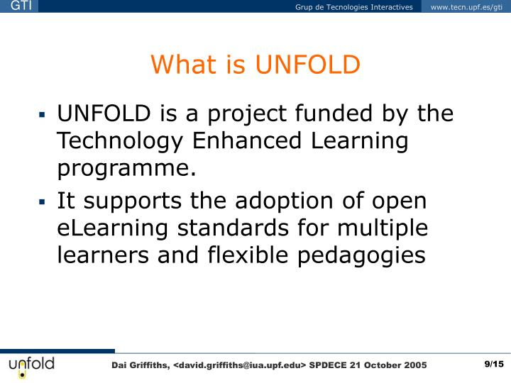 What is UNFOLD