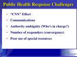 public health response challenges