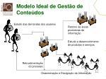 modelo ideal de gest o de conte dos