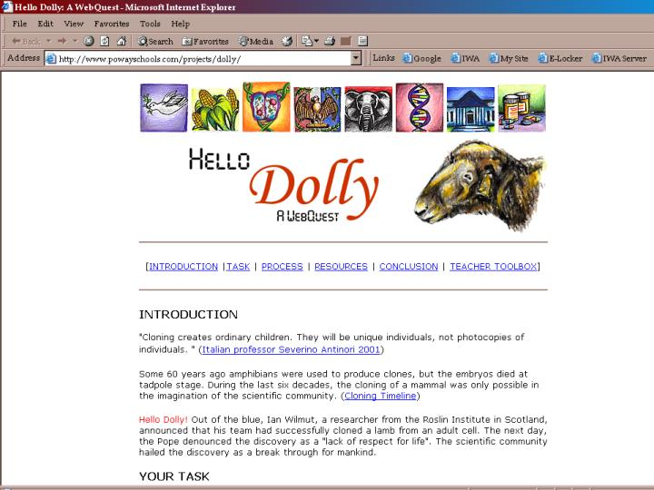 Exploring the world of webquests