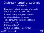 challenge of updating systematic searching