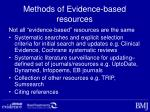methods of evidence based resources