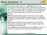 work structure 2