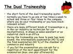 the dual traineeship
