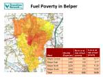 fuel poverty in belper