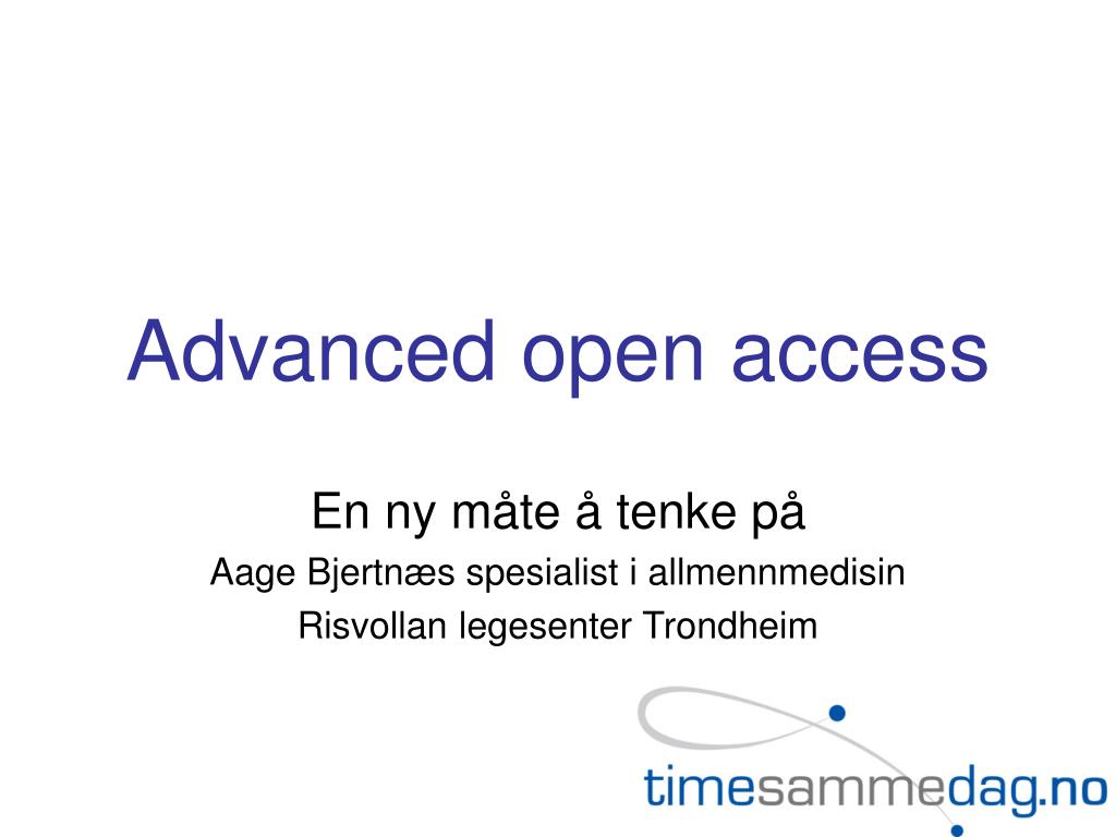 advanced open access l.