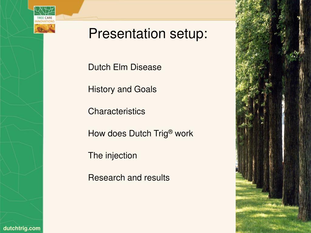Presentation setup: