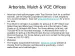 arborists mulch vce offices
