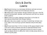 do s don ts lawns