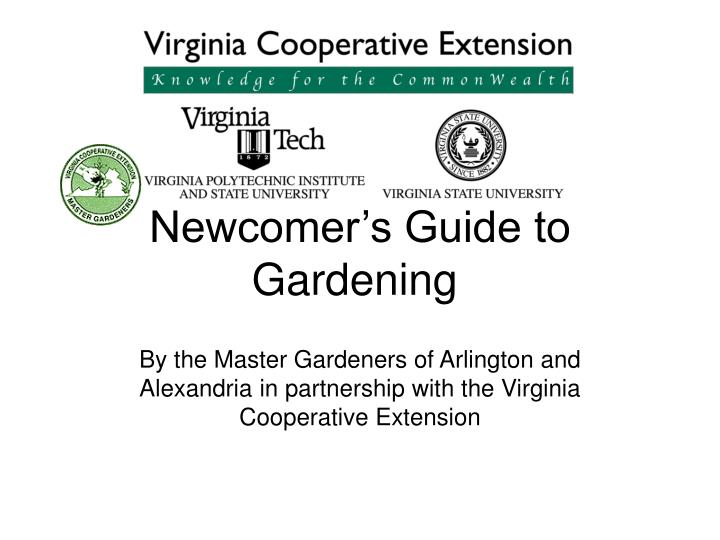 newcomer s guide to gardening n.