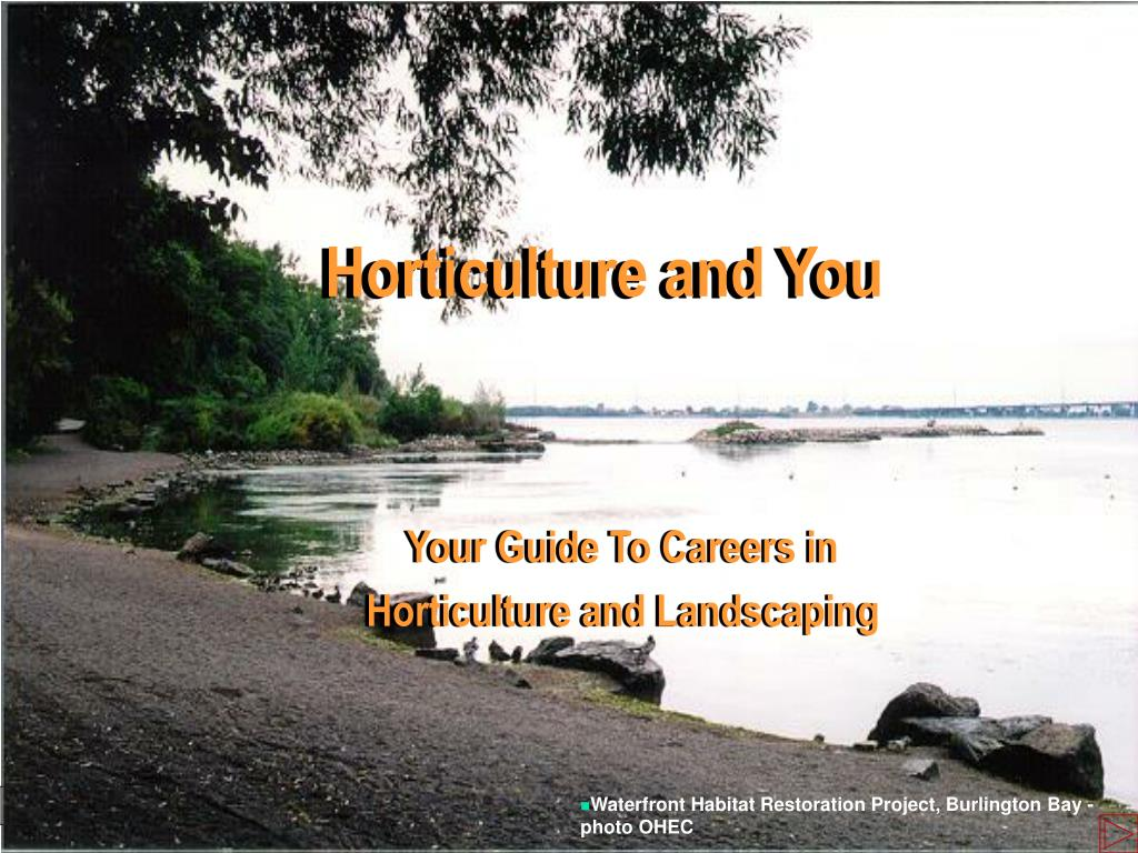 horticulture and you l.