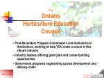 the ontario horticulture education council