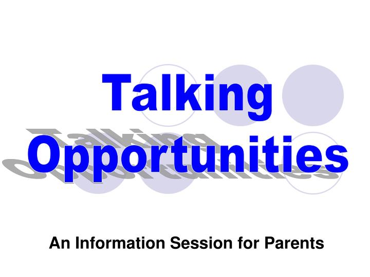 an information session for parents n.