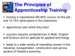 the principles of apprenticeship training