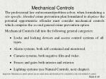 mechanical controls