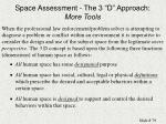 space assessment the 3 d approach more tools