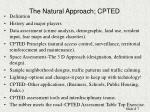 the natural approach cpted