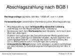 abschlagszahlung nach bgb i