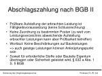 abschlagszahlung nach bgb ii