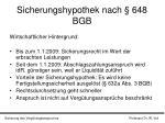 sicherungshypothek nach 648 bgb