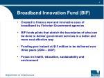 broadband innovation fund bif