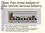 case four arena analysis of the uniform services industry36