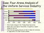 case four arena analysis of the uniform services industry37