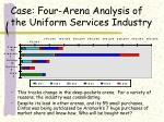 case four arena analysis of the uniform services industry38