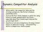 dynamic competitor analysis