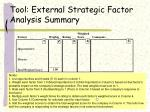 tool external strategic factor analysis summary