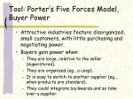 tool porter s five forces model buyer power