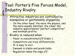 tool porter s five forces model industry rivalry