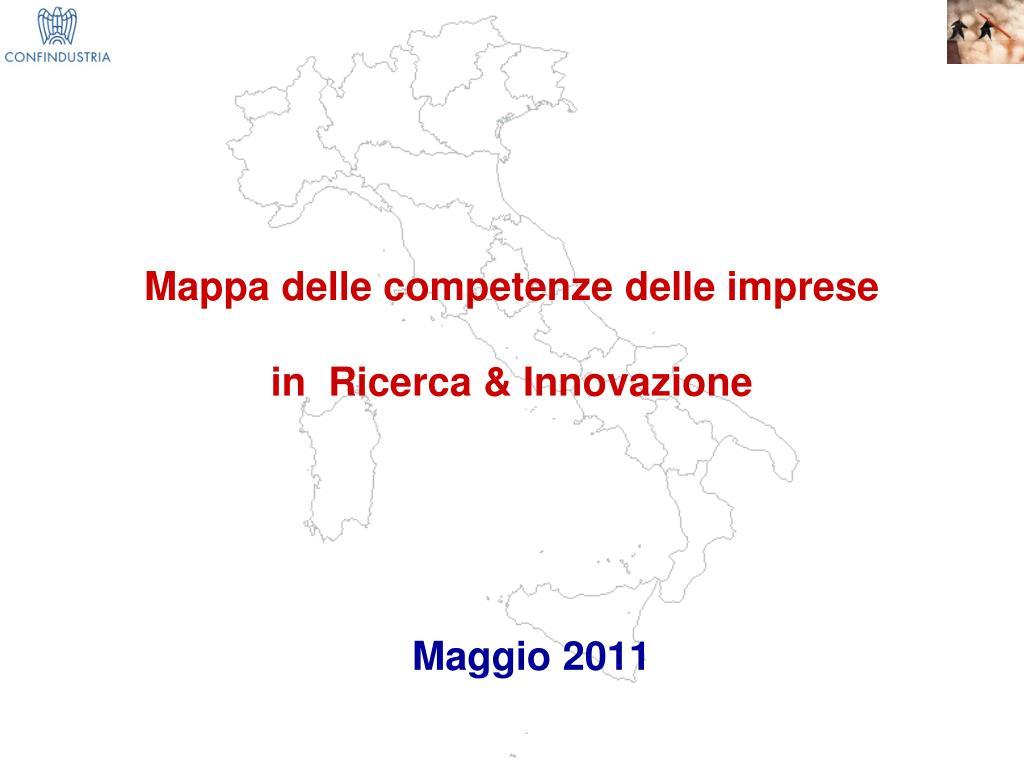 mappa delle competenze delle imprese in ricerca innovazione l.