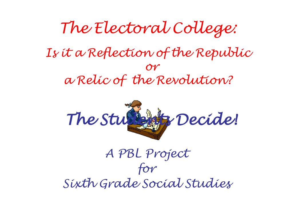 a pbl project for sixth grade social studies l.