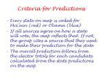 criteria for predictions