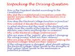 unpacking the driving question