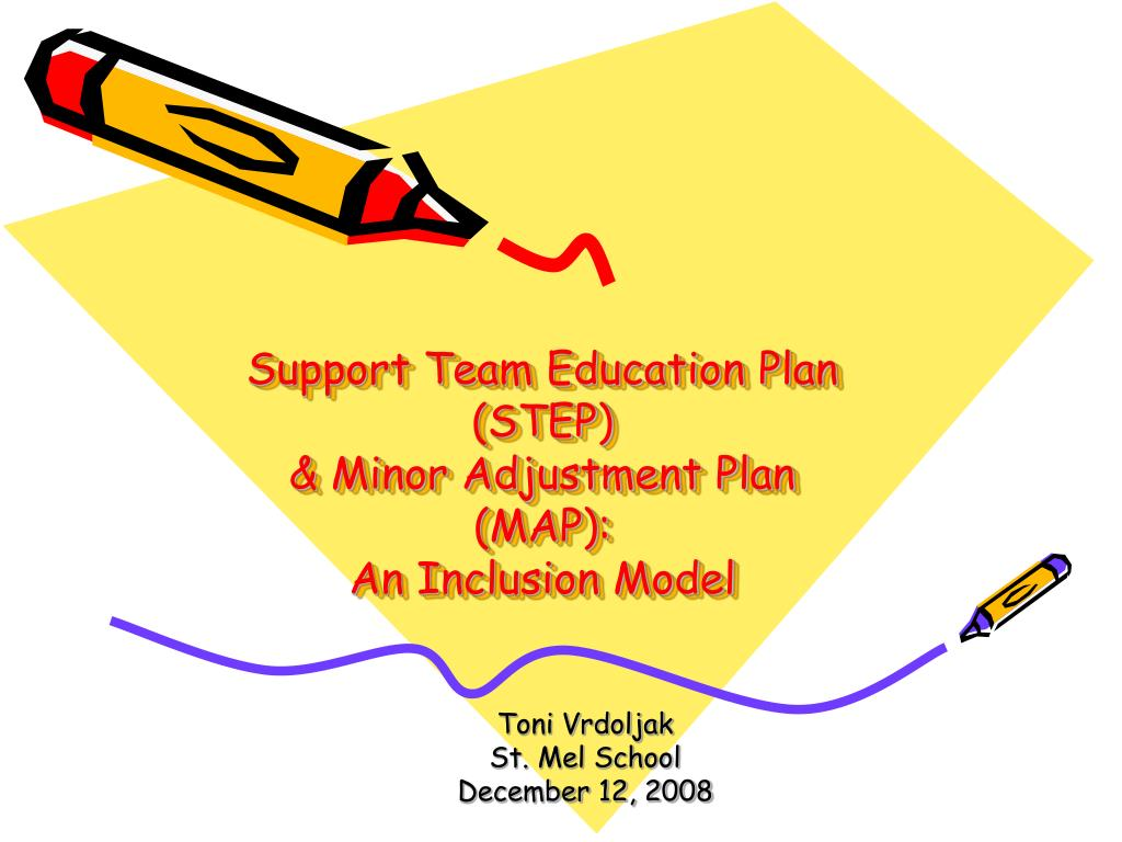 support team education plan step minor adjustment plan map an inclusion model l.