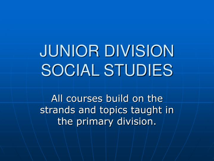 junior division social studies n.