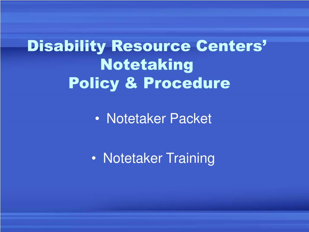 Disability Resource Centers'