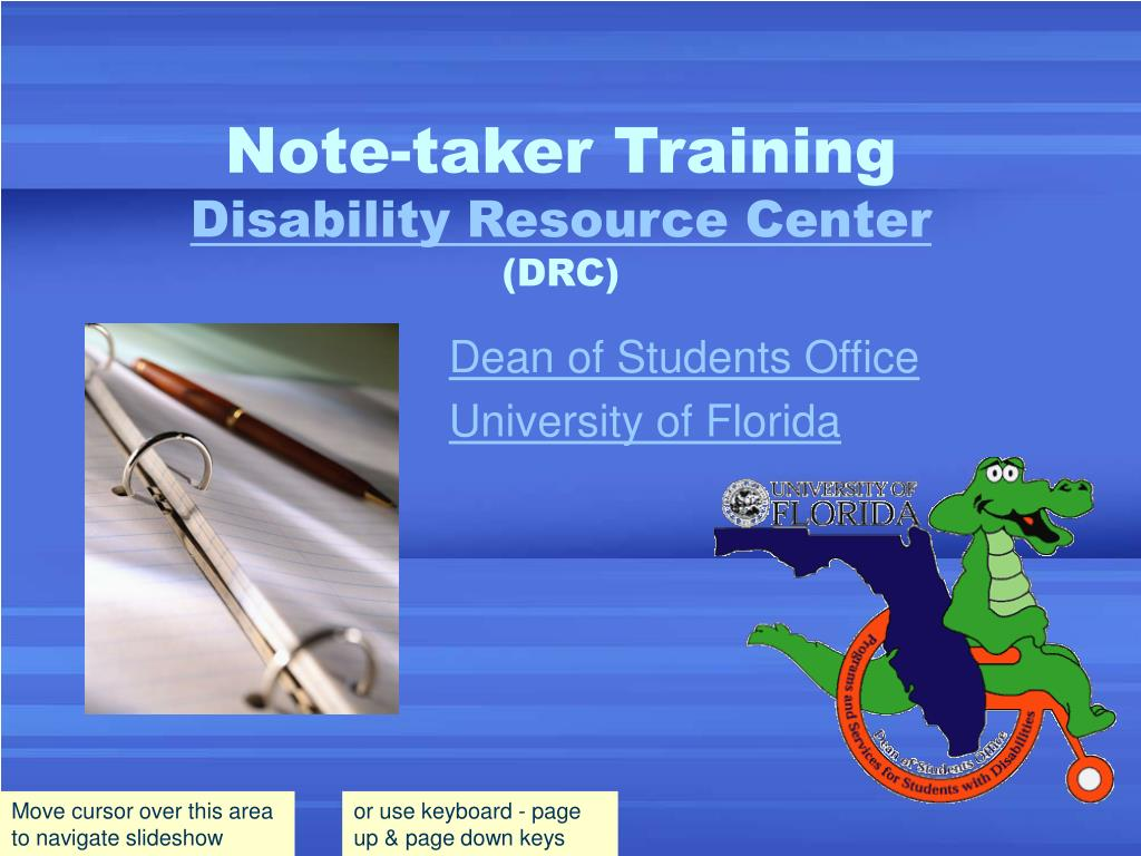 note taker training disability resource center drc l.