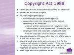 copyright act 1988