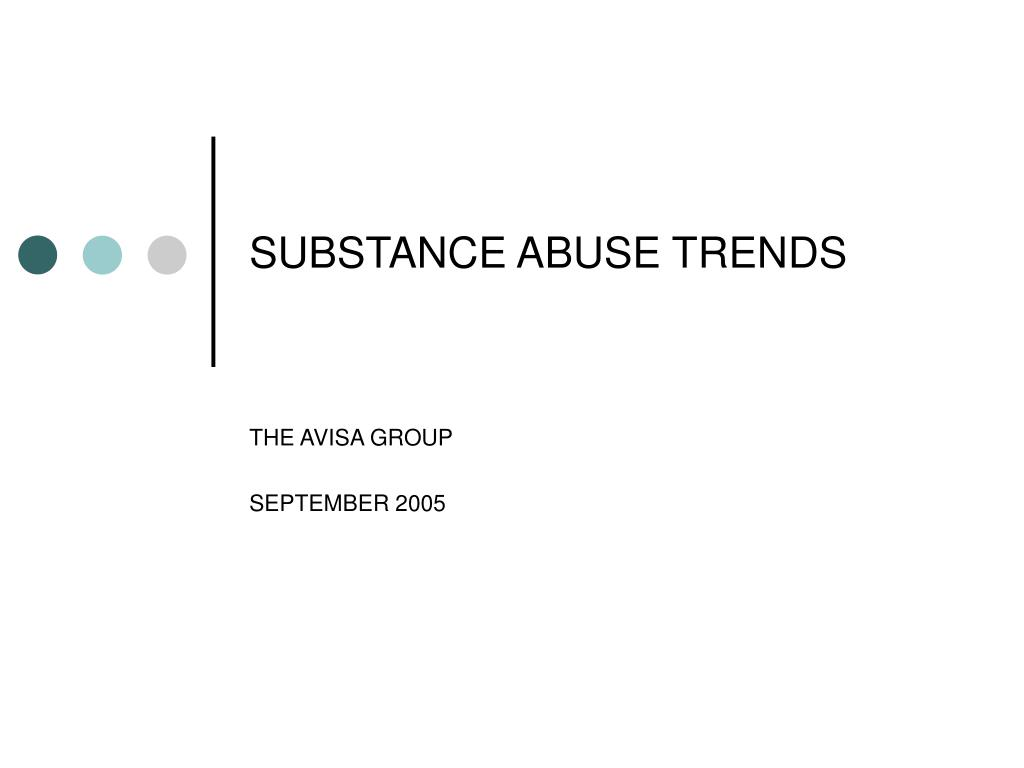 substance abuse trends l.