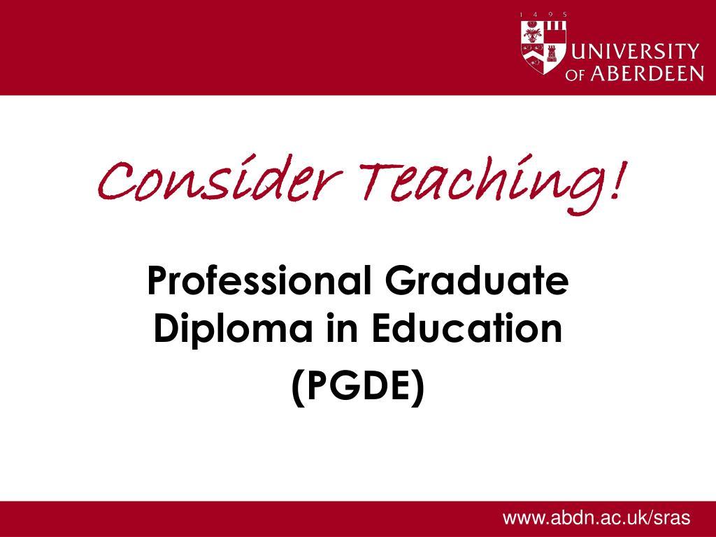 consider teaching l.