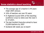 some statistics about teaching