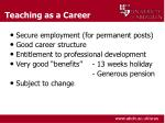 teaching as a career